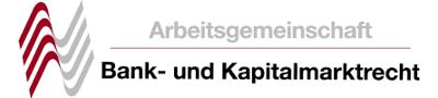 Logo Arbeitsgemeinschaft Bank- und Kapitalmarktrecht DAV
