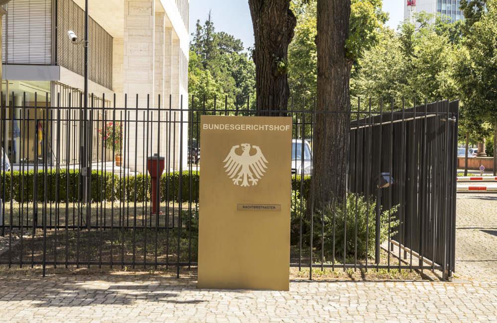 Einfahrt Bundesgerichtshof Karlsruhe